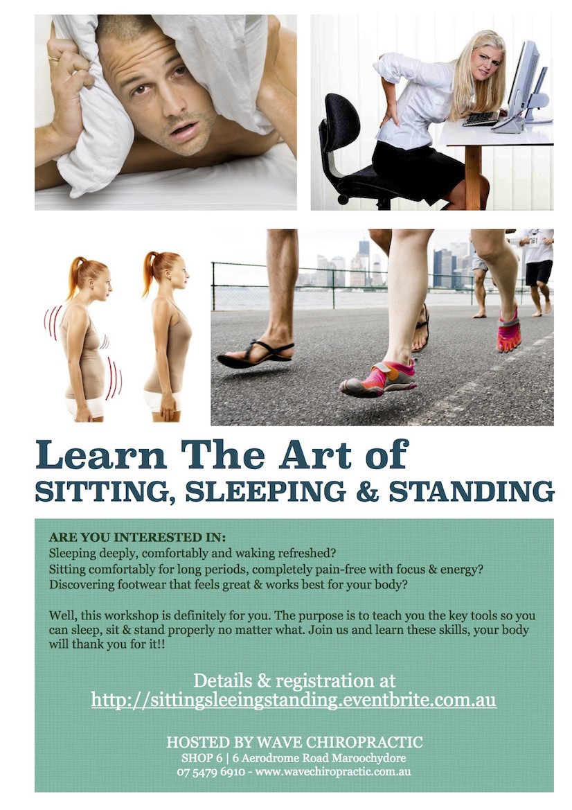 Learn The Art of SITTING, SLEEPING & STANDING